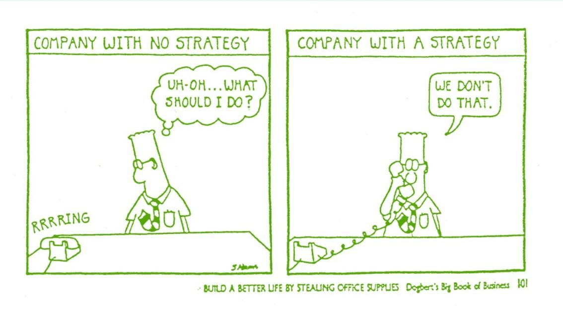 9 van de 10 organisaties slagen er niet in om hun strategie terealiseren